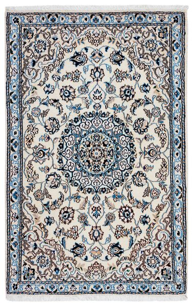Nain 9La Teppe 93X141 Ekte Orientalsk Håndknyttet Mørk Grå/Lys Grå (Ull/Silke, Persia/Iran)