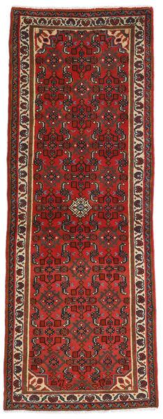 Hamadan Teppe 73X203 Ekte Orientalsk Håndknyttet Teppeløpere Mørk Rød/Rust (Ull, Persia/Iran)
