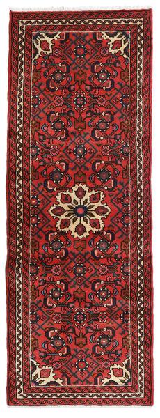 Hosseinabad Teppe 73X194 Ekte Orientalsk Håndknyttet Teppeløpere Mørk Rød/Mørk Brun (Ull, Persia/Iran)