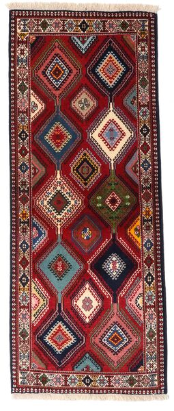Yalameh Teppe 80X202 Ekte Orientalsk Håndknyttet Teppeløpere Mørk Rød (Ull, Persia/Iran)