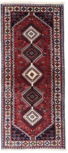 Yalameh Teppe 83X190 Ekte Orientalsk Håndknyttet Teppeløpere Mørk Rød (Ull, Persia/Iran)