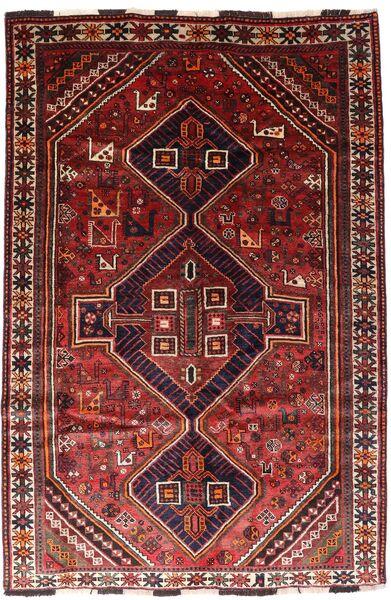 Shiraz Teppe 166X246 Ekte Orientalsk Håndknyttet Mørk Rød/Rust (Ull, Persia/Iran)