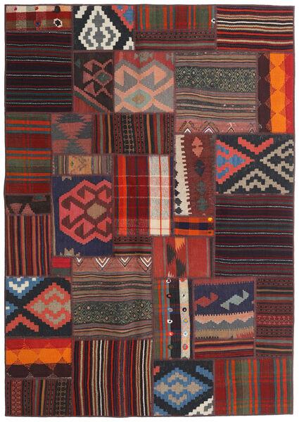 Tekkeh Kelim Teppe 141X203 Ekte Moderne Håndvevd Mørk Rød/Mørk Blå (Ull, Persia/Iran)