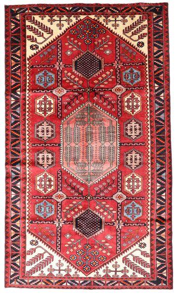 Hamadan Teppe 147X252 Ekte Orientalsk Håndknyttet Mørk Rød/Rust (Ull, Persia/Iran)