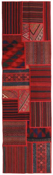 Tekkeh Kelim Teppe 71X251 Ekte Moderne Håndvevd Teppeløpere Mørk Rød/Mørk Brun (Ull, Persia/Iran)