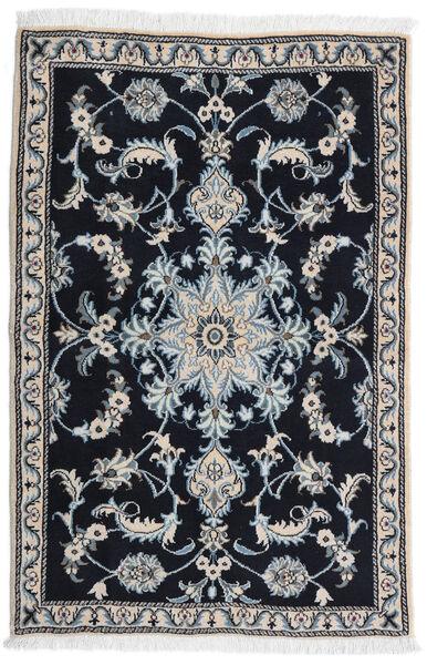 Nain Teppe 89X134 Ekte Orientalsk Håndknyttet Svart/Lys Grå (Ull, Persia/Iran)