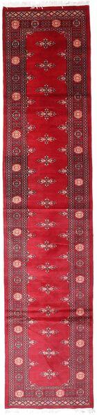 Pakistan Bokhara 2Ply Teppe 78X354 Ekte Orientalsk Håndknyttet Teppeløpere Rød/Mørk Rød (Ull, Pakistan)
