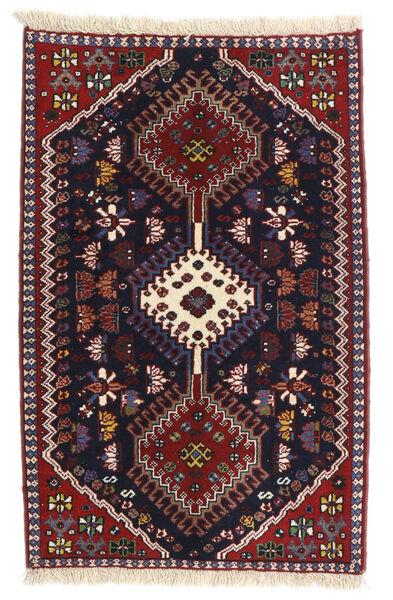 Yalameh Teppe 62X96 Ekte Orientalsk Håndknyttet Mørk Rød/Mørk Blå (Ull, Persia/Iran)