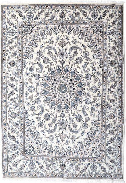 Nain Teppe 249X354 Ekte Orientalsk Håndknyttet Lys Grå/Beige (Ull, Persia/Iran)