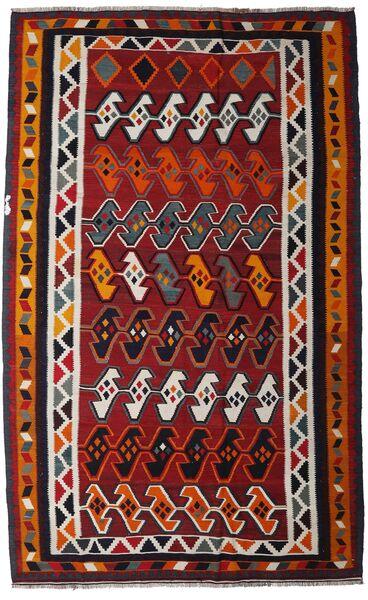 Kelim Vintage Teppe 172X275 Ekte Orientalsk Håndvevd Mørk Brun/Mørk Rød (Ull, Persia/Iran)