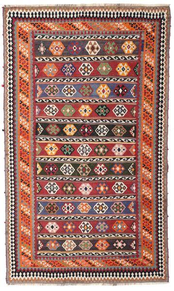 Kelim Vintage Teppe 162X270 Ekte Orientalsk Håndvevd Mørk Rød/Mørk Brun (Ull, Persia/Iran)