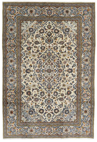Keshan Teppe 195X288 Ekte Orientalsk Håndknyttet Mørk Grå/Lys Grå (Ull, Persia/Iran)