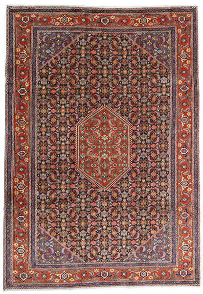 Ardebil Teppe 234X330 Ekte Orientalsk Håndknyttet Mørk Rød/Mørk Brun (Ull, Persia/Iran)