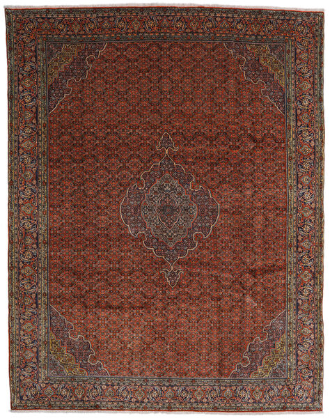 Bidjar Teppe 317X402 Ekte Orientalsk Håndknyttet Mørk Rød/Mørk Brun Stort (Ull, Persia/Iran)