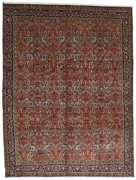 Tabriz Teppe 302X396 Ekte Orientalsk Håndknyttet Mørk Rød/Mørk Brun Stort (Ull, Persia/Iran)