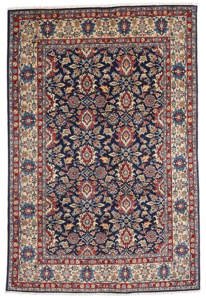 Varamin Sherkat Farsh Teppe 190X287 Ekte Orientalsk Håndknyttet Lysbrun/Mørk Lilla (Ull, Persia/Iran)