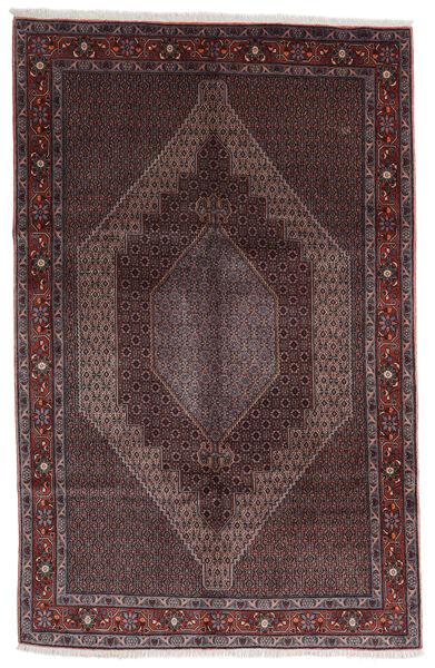 Senneh Teppe 200X300 Ekte Orientalsk Håndknyttet Mørk Brun/Svart (Ull, Persia/Iran)