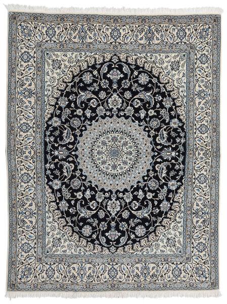 Nain 9La Teppe 200X257 Ekte Orientalsk Håndknyttet Lys Grå/Mørk Grå (Ull/Silke, Persia/Iran)