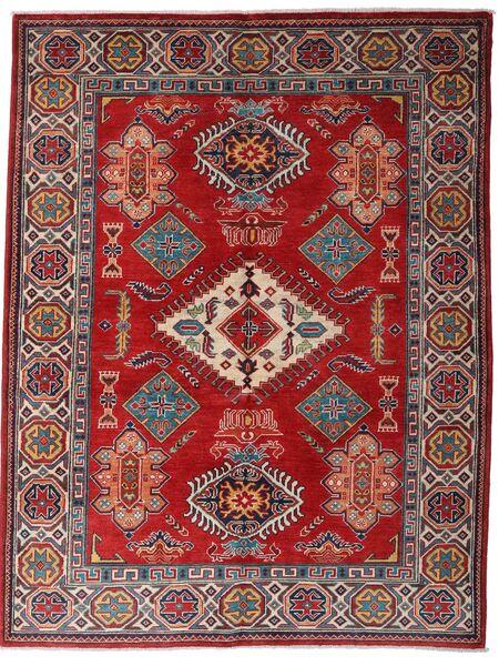 Kazak Teppe 152X198 Ekte Orientalsk Håndknyttet Mørk Rød/Mørk Brun (Ull, Afghanistan)