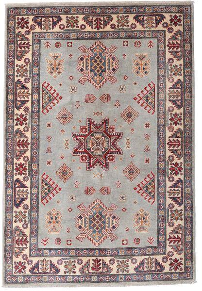 Kazak Teppe 121X179 Ekte Orientalsk Håndknyttet Lys Grå/Mørk Brun (Ull, Afghanistan)