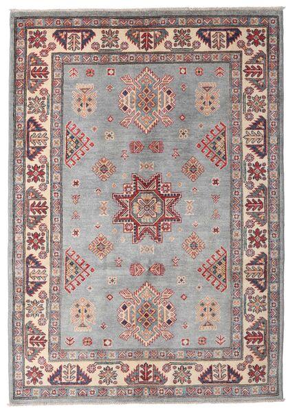 Kazak Teppe 127X180 Ekte Orientalsk Håndknyttet Lys Grå/Lyserosa (Ull, Afghanistan)