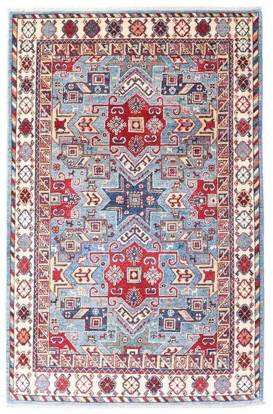 Kazak Teppe 121X186 Ekte Orientalsk Håndknyttet Hvit/Creme/Rosa (Ull, Afghanistan)