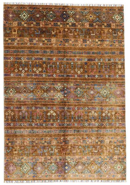Shabargan Teppe 169X242 Ekte Moderne Håndknyttet Brun/Mørk Brun (Ull, Afghanistan)
