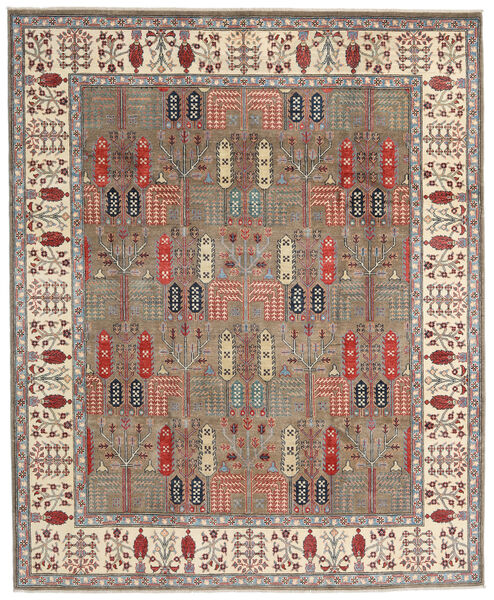 Kazak Teppe 244X296 Ekte Orientalsk Håndknyttet Lys Grå/Beige (Ull, Afghanistan)