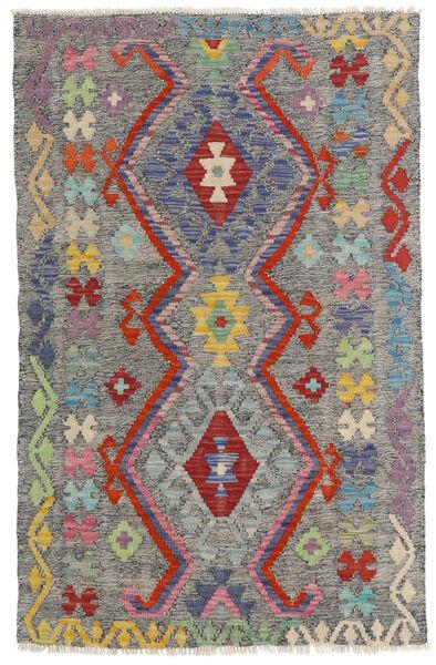 Kelim Afghan Old Style Teppe 96X149 Ekte Orientalsk Håndvevd Mørk Grå/Lys Grå (Ull, Afghanistan)