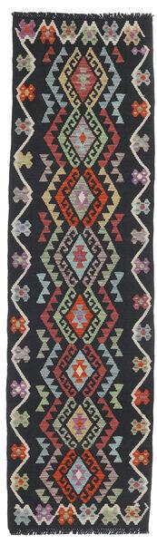 Kelim Afghan Old Style Teppe 67X239 Ekte Orientalsk Håndvevd Teppeløpere Mørk Grå/Brun (Ull, Afghanistan)