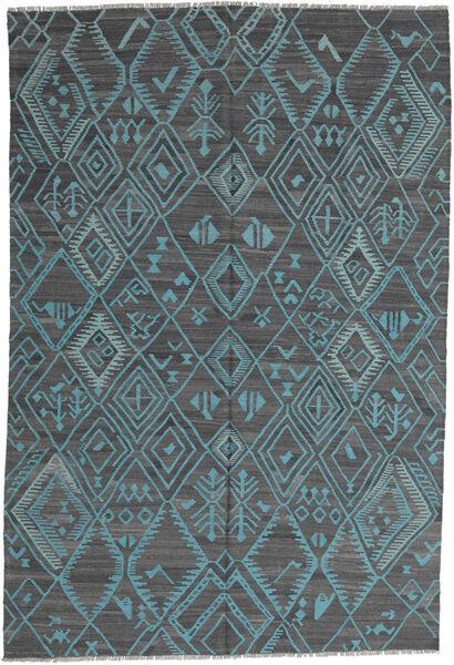 Kelim Moderne Teppe 197X291 Ekte Moderne Håndvevd Lys Blå/Blå (Ull, Afghanistan)