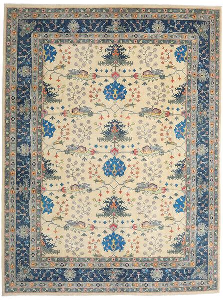 Kazak Teppe 275X363 Ekte Orientalsk Håndknyttet Lys Grå/Beige Stort (Ull, Afghanistan)