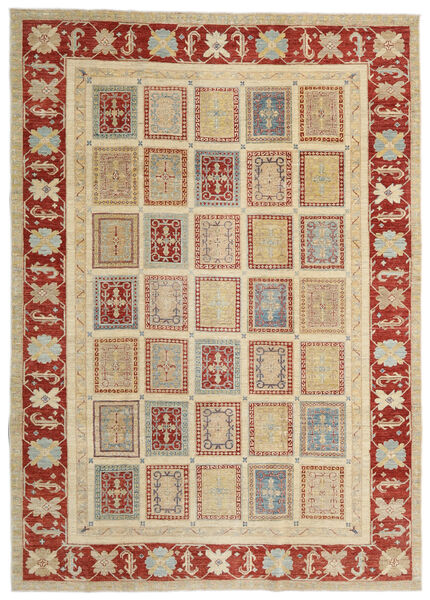 Ziegler Ariana Teppe 204X288 Ekte Orientalsk Håndknyttet Mørk Beige/Mørk Rød (Ull, Afghanistan)