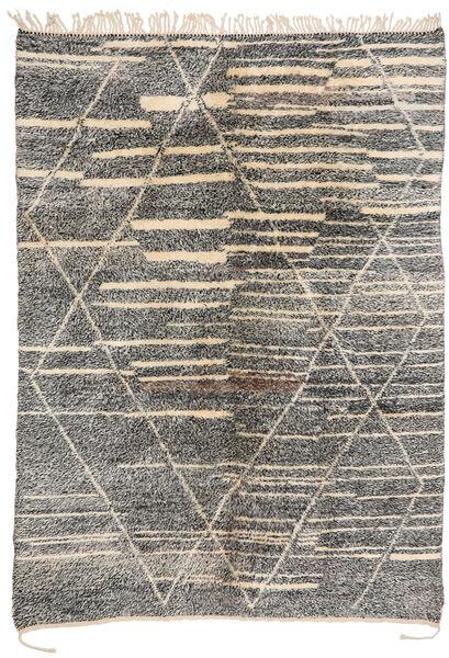 Berber Moroccan - Mid Atlas Teppe 200X283 Ekte Moderne Håndknyttet Lys Grå/Mørk Grå (Ull, Marokko)