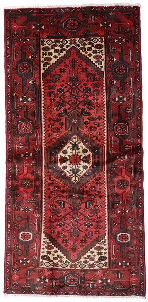 Hamadan Teppe 100X205 Ekte Orientalsk Håndknyttet Mørk Rød (Ull, Persia/Iran)