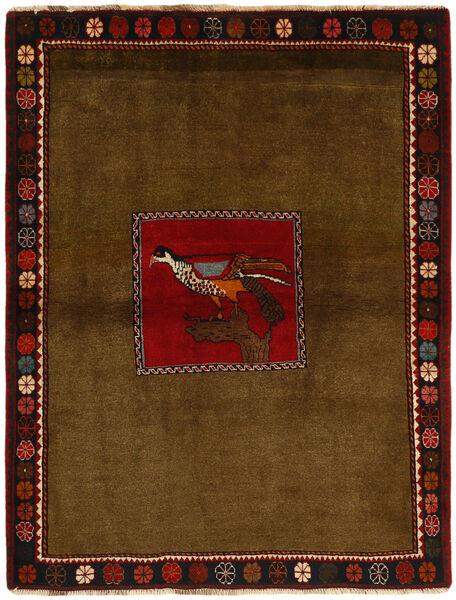 Ghashghai Teppe 130X170 Ekte Orientalsk Håndknyttet Brun/Mørk Brun (Ull, Persia/Iran)