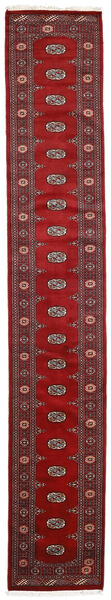 Pakistan Bokhara 2Ply Teppe 78X460 Ekte Orientalsk Håndknyttet Teppeløpere Mørk Rød/Rød (Ull, Pakistan)