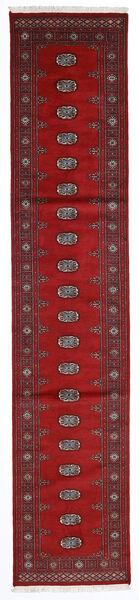Pakistan Bokhara 2Ply Teppe 77X376 Ekte Orientalsk Håndknyttet Teppeløpere Mørk Rød/Rød (Ull, Pakistan)