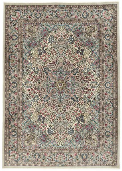 Kerman Sherkat Farsh Teppe 250X350 Ekte Orientalsk Håndknyttet Lys Grå/Mørk Grå Stort (Ull/Silke, Persia/Iran)