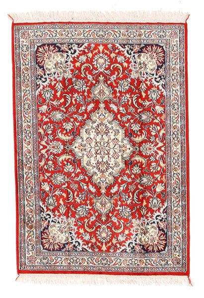 Kashmir Ren Silke Teppe 64X93 Ekte Orientalsk Håndknyttet Beige/Lys Grå (Silke, India)