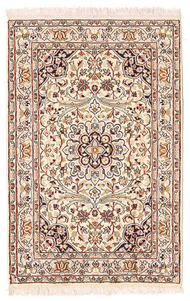 Kashmir Ren Silke Teppe 63X95 Ekte Orientalsk Håndknyttet Lyserosa/Mørk Brun (Silke, India)
