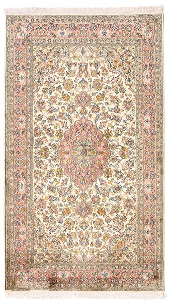 Kashmir Ren Silke Teppe 94X164 Ekte Orientalsk Håndknyttet Gul/Brun (Silke, India)