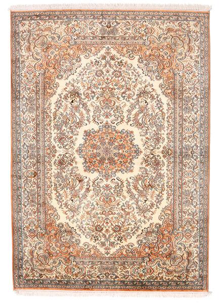 Kashmir Ren Silke Teppe 129X182 Ekte Orientalsk Håndknyttet Lyserosa (Silke, India)