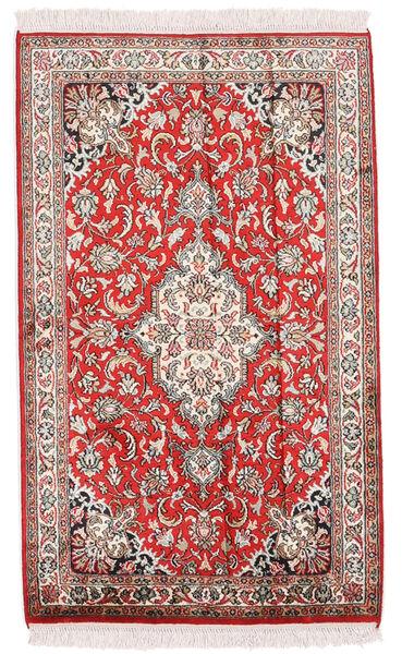 Kashmir Ren Silke Teppe 62X103 Ekte Orientalsk Håndknyttet Beige/Lys Grå (Silke, India)