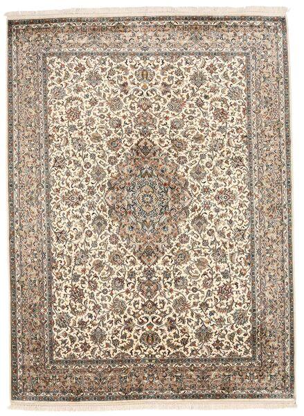 Kashmir Ren Silke Teppe 160X220 Ekte Orientalsk Håndknyttet Lys Grå/Hvit/Creme (Silke, India)