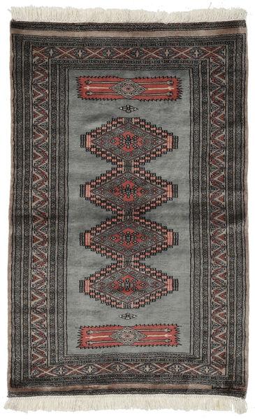 Pakistan Bokhara 3Ply Teppe 97X152 Ekte Orientalsk Håndknyttet Svart/Mørk Grå (Ull, Pakistan)