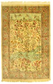 Ghom Silke Figur/Bilde Teppe 131X198 Ekte Orientalsk Håndknyttet (Silke, Persia/Iran)