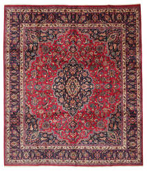 Mashad Signert: Maebodi Teppe 303X360 Ekte Orientalsk Håndknyttet Stort (Ull, Persia/Iran)
