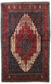 Senneh Teppe 128X210 Ekte Orientalsk Håndknyttet Mørk Brun/Mørk Rød (Ull, Persia/Iran)