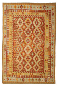 Kelim Afghan Old Style Teppe 197X293 Ekte Orientalsk Håndvevd (Ull, Afghanistan)